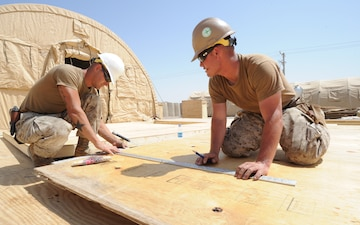 Seabees construct headquarters for Army Service Support Brigade