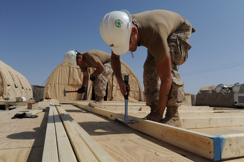 Seabees construct new headquarters for Army Service Support Brigade