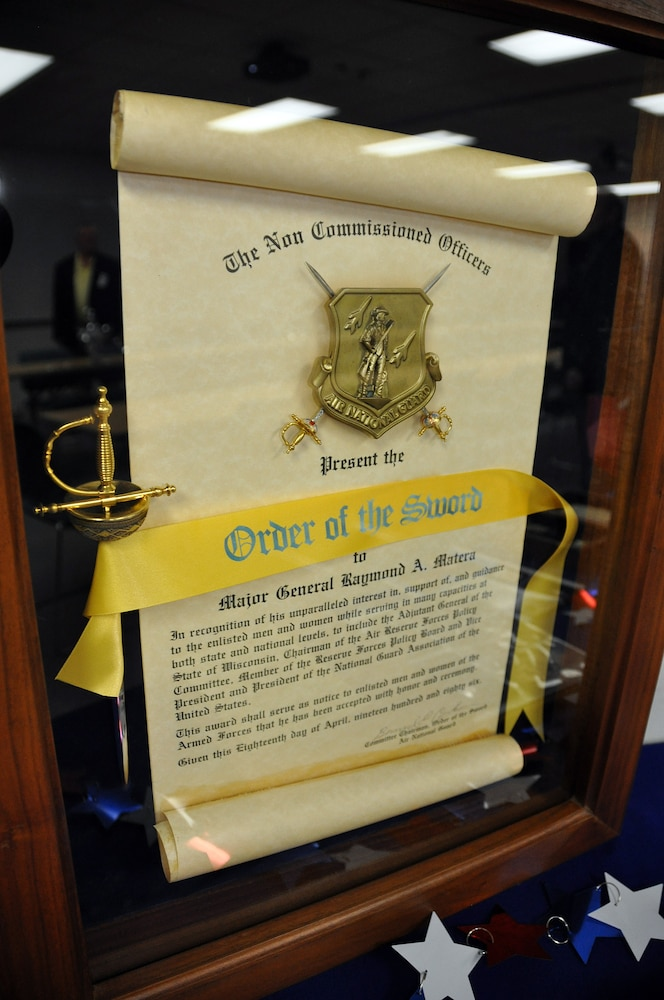 Retired adjutant general's Order of the Sword on display at Wisconsin Department of Military Affairs