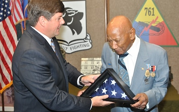 761st Tank veteran honored at Camp Shelby Joint Forces Training Center