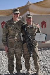 Soldier honored for valor in Afghanistan