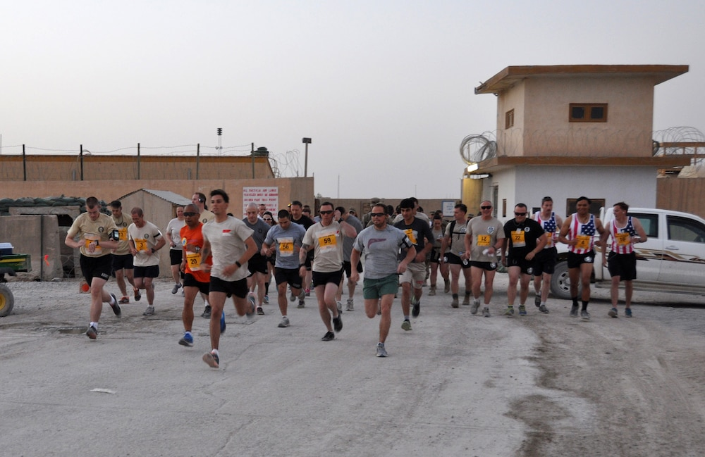 Afghanistan: Forward Operating Base Farah participates in Army 10-Miler