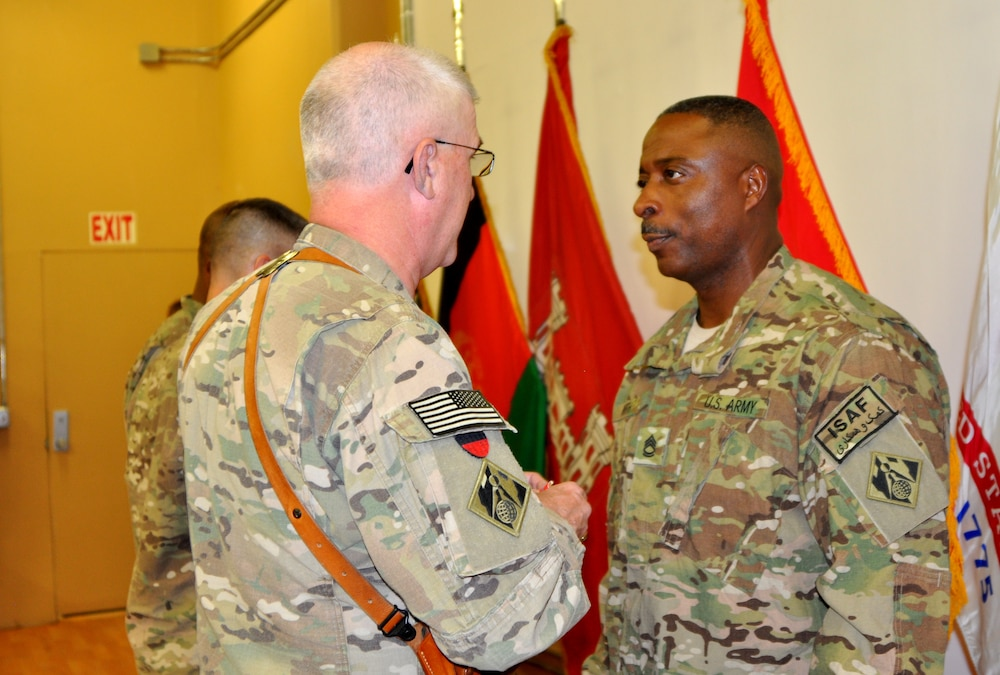 Sgt. 1st Class Leadell J. Smith honored with the Bronze Star and Bronze Order of the de Fleury Medal