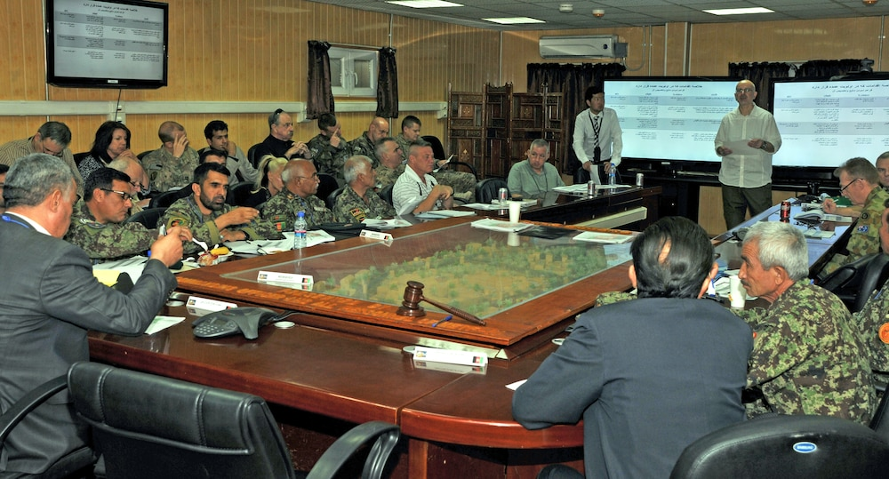Afghan-led working group tackles ANA wheeled vehicle questions