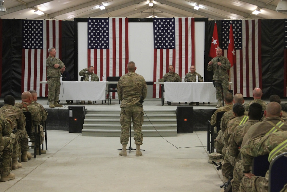 NGB Chief Frank Grass visits guardsmen in Afghanistan