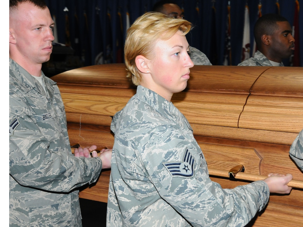 Service drives female pallbearers to excellence