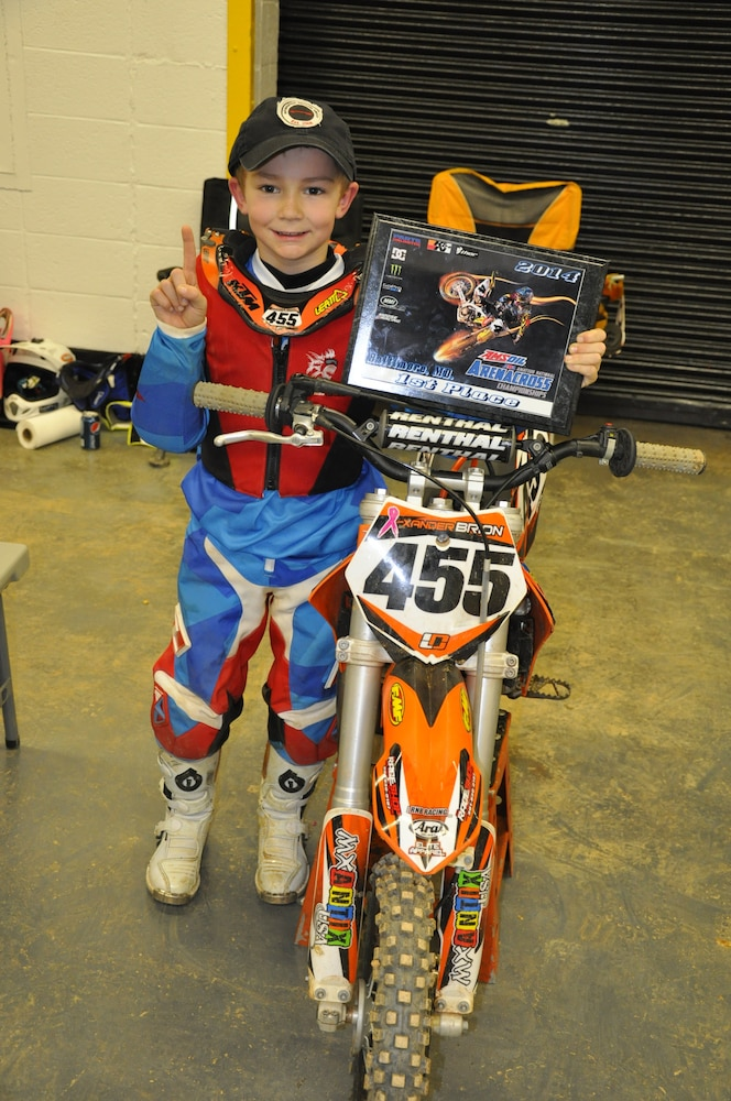 AWG NCO's son takes first place in motocross event