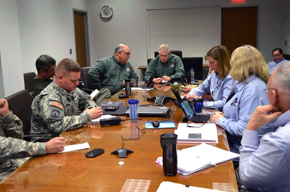 NC Guard and Emergency Management leaders plan winter storm operations