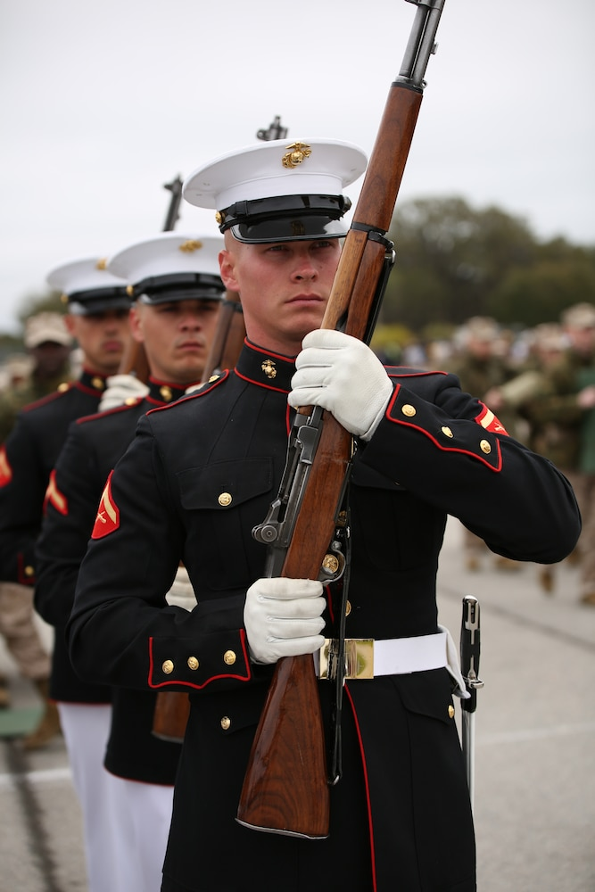 Marine Corps Battle Color Ceremony tour comes to Parris Island