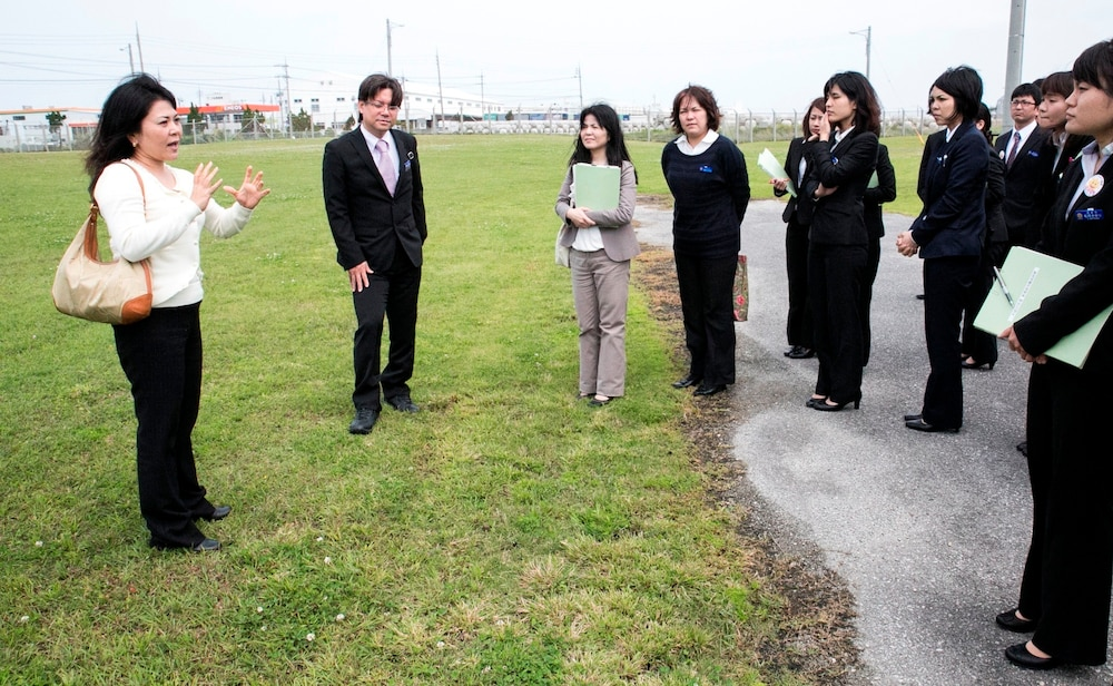 Urasoe City Office employees tour Camp Kinser, gain deeper understanding