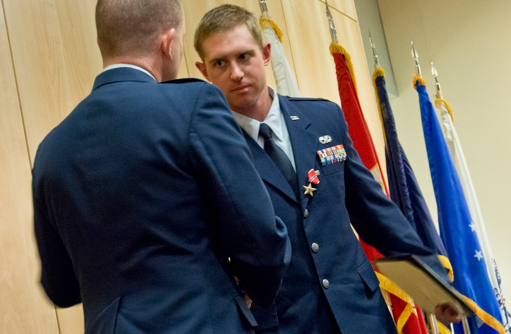 Logistics Airman is top officer, earns Bronze Star