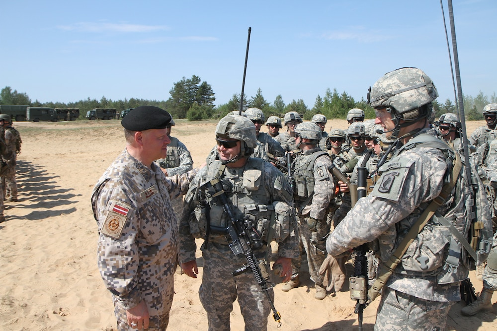 173rd Airborne and Michigan National Guard Soldiers participate in Latvian exercise