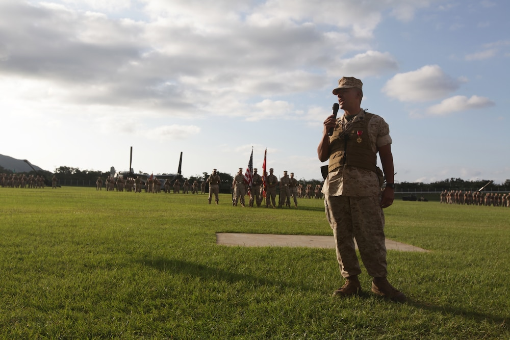 The magnanimous Sgt. Maj. Butch Vasquez retires