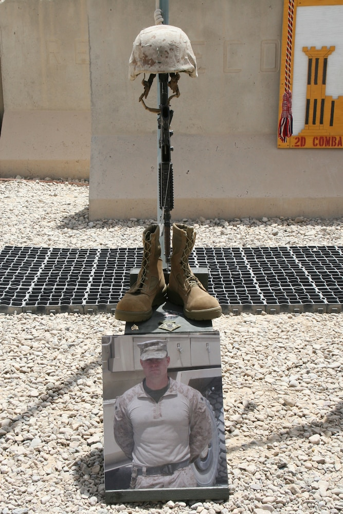 2nd Combat Engineer Battalion honors fallen Marines during memorial ceremony in Afghanistan