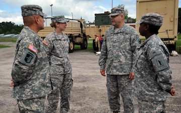 Brig. Gen. Irizarry visits Task Force Wolf Soldiers
