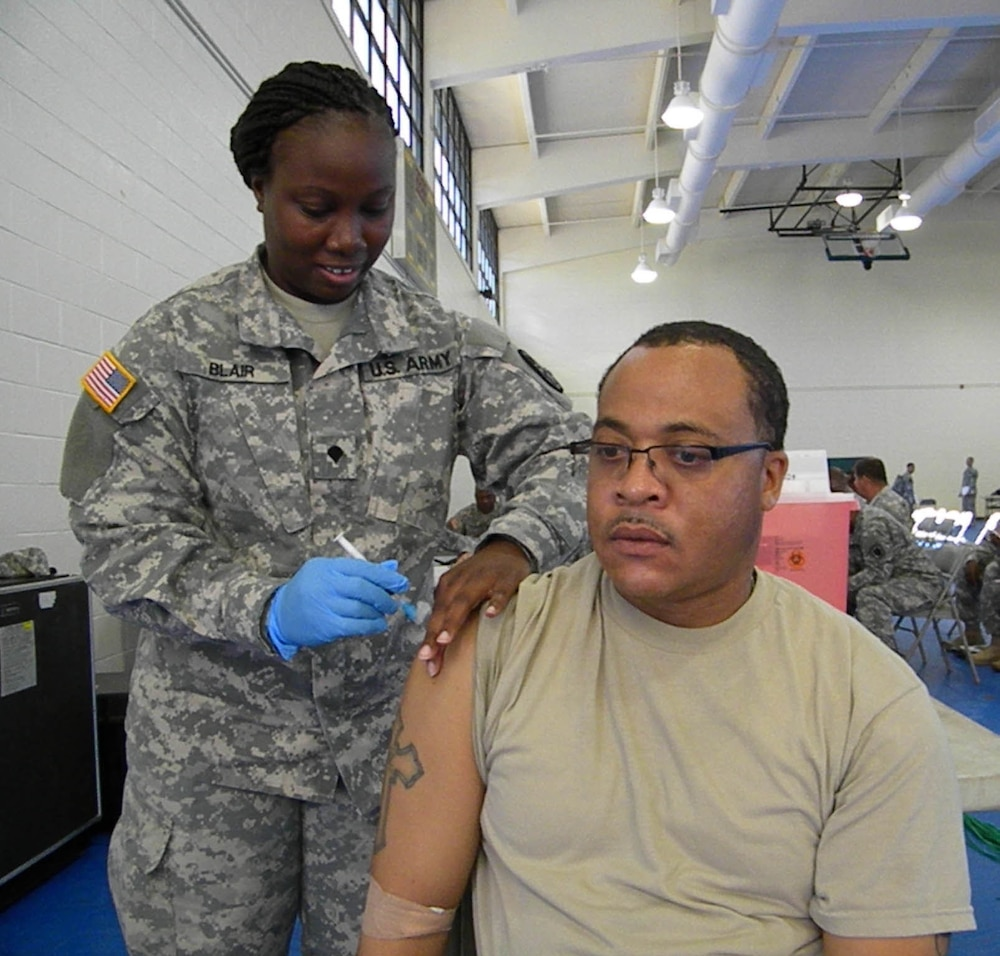 Soldiers vaccinated for West Africa mission