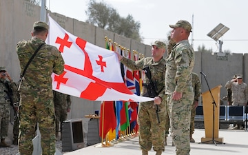 Georgian Special Mountain Battalion ends Afghan mission with ceremony