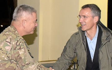ISAF Commander meets with new Secretary General of NATO