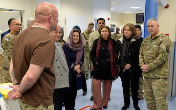Afghanistan's first lady visits Role 2 Hospital in Kabul