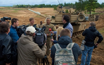 Media engagement: Tank shoot