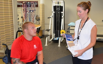 Physical therapists assist amputees with getting their lives back