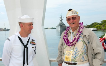 Wreath dedication held on USS Arizona Memorial