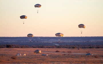 82nd Airborne drops into Fort Hood's range for combat training