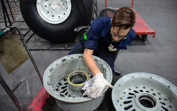 379th EMXS operates most productive Air Force wheel, tire repair facility