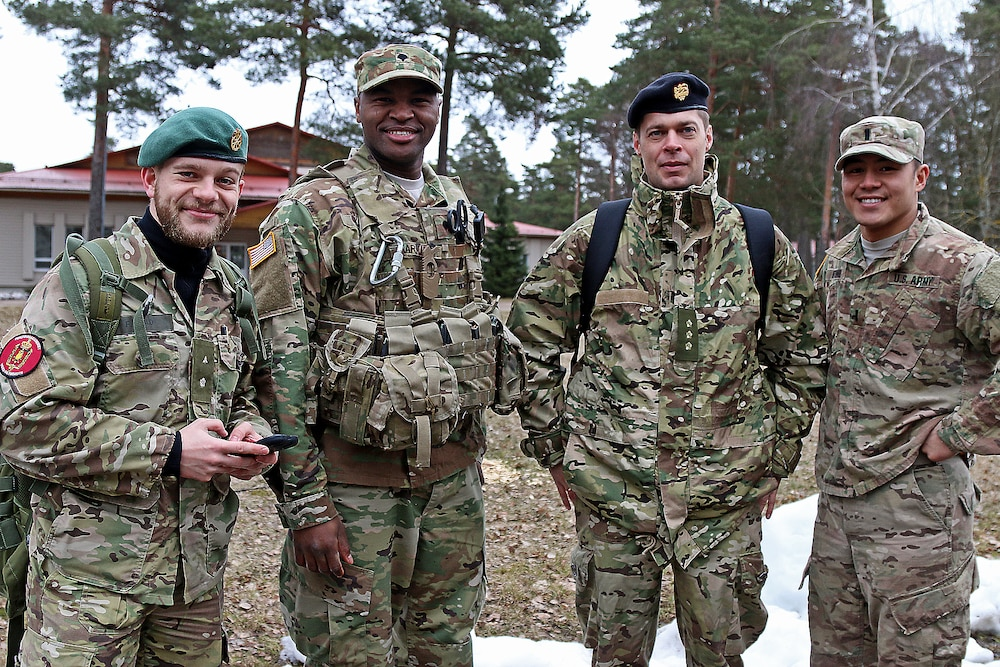 Cadets from seven NATO countries tour Adazi Military Base