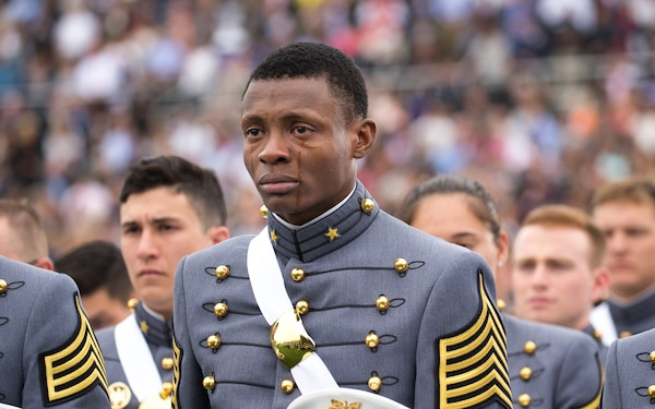 West Point Cadet Sheds Tears of Joy at Graduation  (High Resolution)