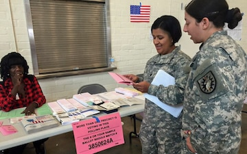 224th Sustainment Brigade opens doors for presidential primary polling