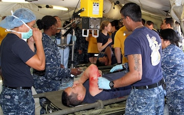 Army Reserve Medics Assist Navy with Mass Casualty Exercise