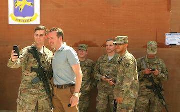 Secretary of the Army visits Soldiers in Iraq