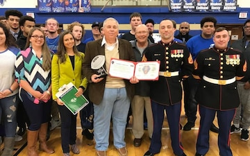 Chillicothe Football Coach earns prestigious Marine Corps award