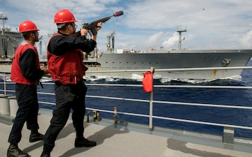 USS Lake Champlain (CG 57) Replenishment-at-Sea