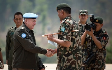 U.N. Military Adviser for Peacekeeping Operations, Office of Military Affairs visits Nepal for Exercise Shanti Prayas III