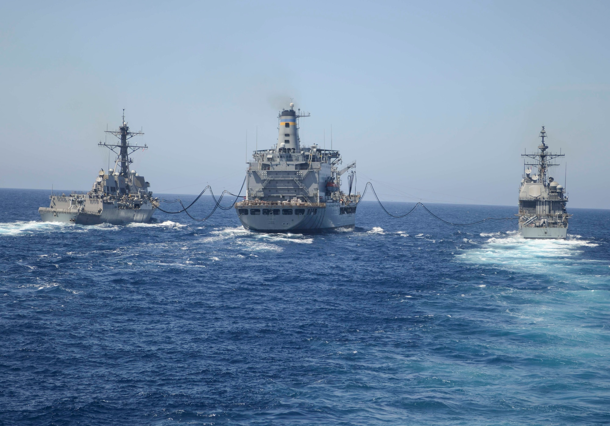 DVIDS - Images - Ships assigned to Nimitz Carrie Strike Group Conduct RAS during COMPTUEX [Image 17 of 31]