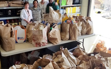 JBAB Chapel donates thousands of pounds of food to local charity
