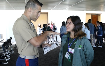 Marines Connect with Local Youth through Hispanic Heritage Foundation