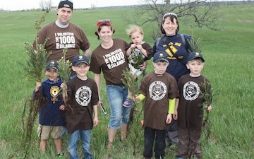 Scouts plant trees, set record for Arbor Day