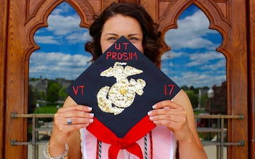 Virginia Tech Gamma Phi Beta President earns title Marine