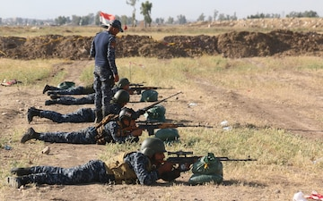IRAQI SNIPER TRAINING ASSISTED BY COALITION