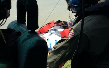 Coast Guard medevacs man who fell from railroad bridge