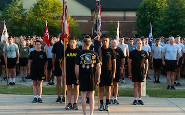 Farewell Run and Color's Casing Ceremony