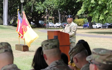 94th HHB, AAMDC Welcomes New First Sergeant