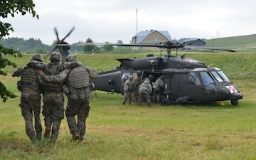 Ground assault exercise transitions into medevac exercise