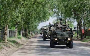 eFP Battle Group Poland crosses the Suwalki Gap into Lithuania