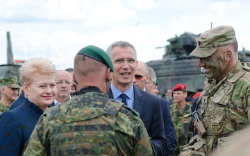 Lithuanian President and NATO Secretary General visit Saber Strike