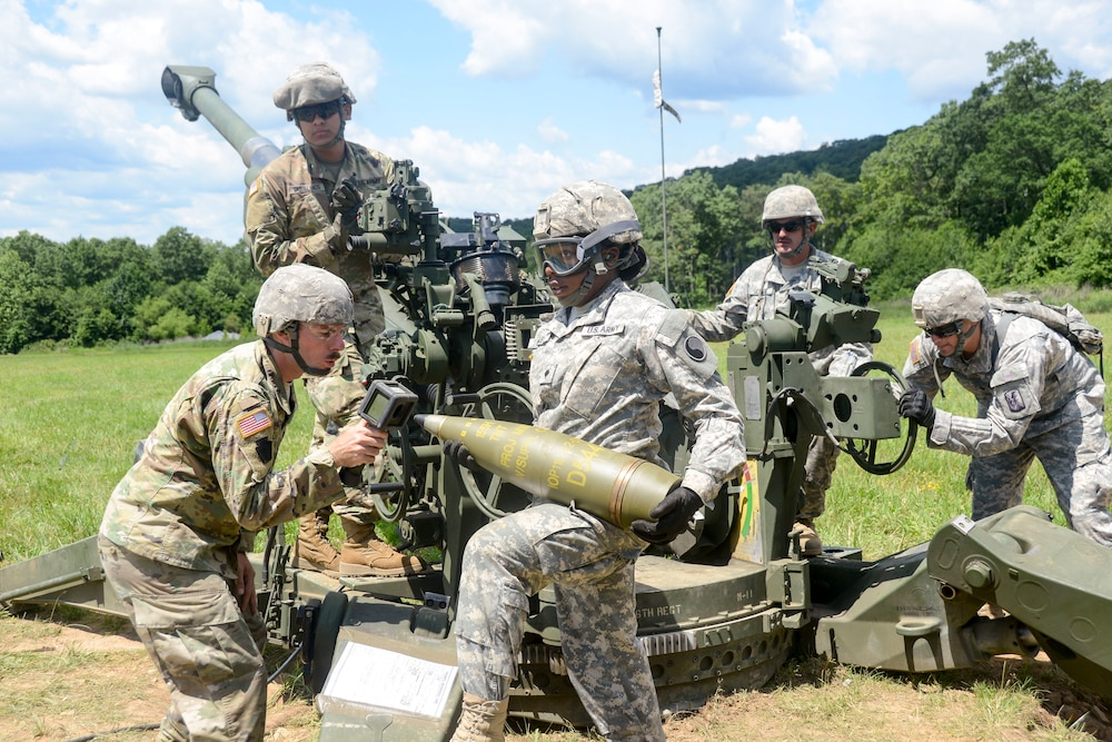 Artillery training at Fort Indiantown Gap