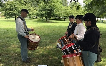 Screaming Eagle band members help teach 19th Century music in Maryland